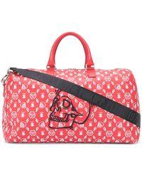 Philipp Plein Bolso de viaje con bordado Skull - Rojo