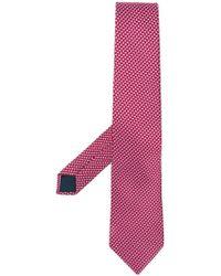 Lanvin - Corbata con motivo geométrico - Lyst