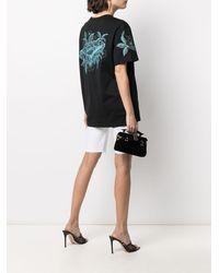 Givenchy Floral Schematics プリントtシャツ - ブラック