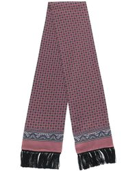 Dolce & Gabbana Printed Fringe Hem Scarf - Розовый
