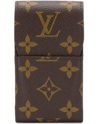Louis Vuitton Портсигар 2004-го Года С Монограммой - Коричневый