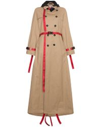 Palm Angels - Trench Coat With Red Belt - Lyst