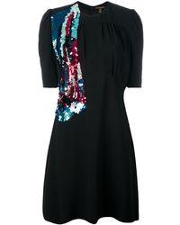 Louis Vuitton スパンコール装飾 ワンピース - ブラック
