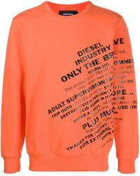 DIESEL Slogan Sweatshirt - Orange
