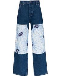 Jacquemus 'Le de Nîmes Fleurs' Jeans - Blau