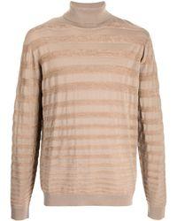 Giorgio Armani Jersey de rayas con cuello vuelto - Neutro