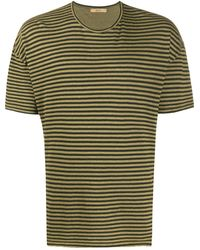 Roberto Collina ストライプ Tシャツ - グリーン