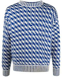 Bode インターシャ セーター - ブルー