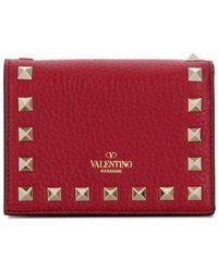 Valentino - Rockstud Wallet - Lyst