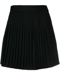 Peter Do プリーツ ミニスカート - ブラック