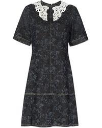 Chloé Джинсовое Платье С Цветочным Принтом - Многоцветный