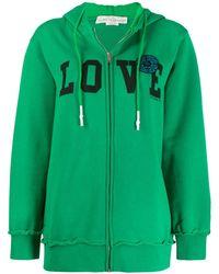 Golden Goose Deluxe Brand Худи На Молнии С Надписью Love - Зеленый