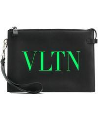 Valentino Garavani Клатч С Логотипом Vltn - Черный