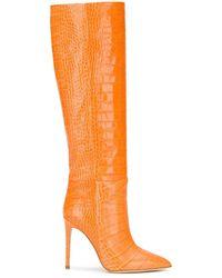 Paris Texas クロコエンボス ブーツ - オレンジ
