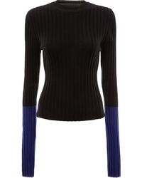 JW Anderson Two-tone Ribbed Sweater - Green