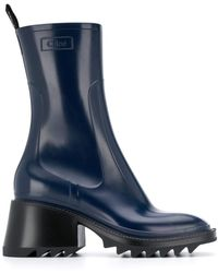 Chloé Betty Rain Boots - Blue