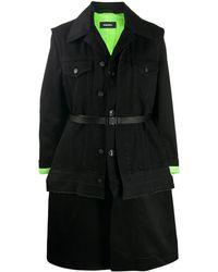 DIESEL W-charie コンバーチブル コート - ブラック