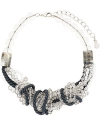 Armani - Rope Beaded Necklace - Lyst