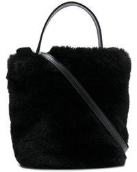 Karl Lagerfeld Karl X Carine バケットバッグ - ブラック