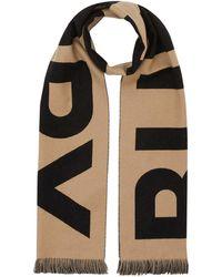 Burberry Sjaal Met Jacquard Logo - Bruin
