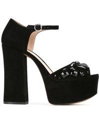 Marc Jacobs Adriana Embellished Platform Sandals - Black