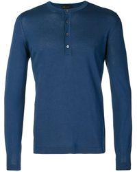 Dell'Oglio ヘンリーネックtシャツ - ブルー