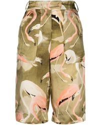 F.R.S For Restless Sleepers Shorts con stampa - Verde