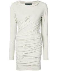 Alexander Wang - Bustier Ruched Mini Dress - Lyst