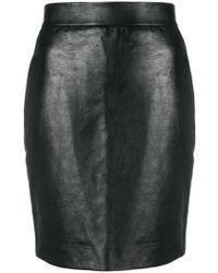Neil Barrett - Fitted Skirt - Lyst