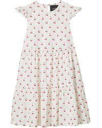 Marc Jacobs Платье С Принтом - Белый
