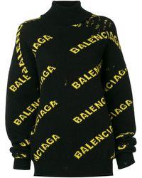 Balenciaga Эксклюзивно На Farfetch - Свитер С Высокой Горловиной И Логотипом - Черный