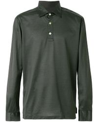 Kiton - Half Button Shirt - Lyst