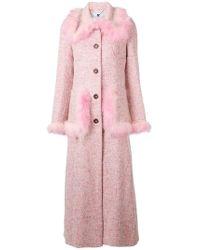 Blumarine - Feather Embellished Coat - Lyst
