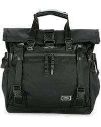AS2OV Double Buckle Tote Bag - Black