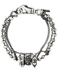 Emanuele Bicocchi - Skull Charm Bracelet - Lyst