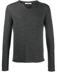 Zadig & Voltaire Monastir Henley-neck Sweater - Grey