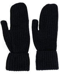 WOOD WOOD Elna Ribbed-knit Gloves - Blue