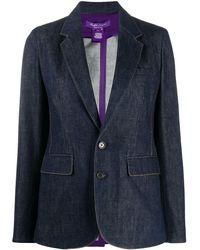 Ralph Lauren Collection Yvette シングルジャケット - ブルー