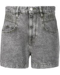 Étoile Isabel Marant Pantalones vaqueros cortos con efecto de lavado ácido - Gris