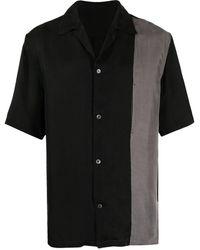 Attachment Camicia a manica corta bicolore - Nero