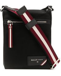 Bally Nylon Messenger Bag - Black