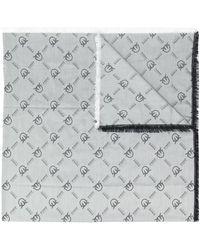 Pinko ジャカードロゴ スカーフ - ホワイト