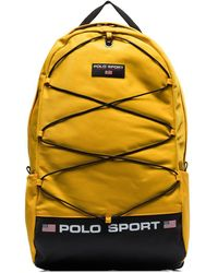 Polo Ralph Lauren Logo Patch Backpack - Yellow