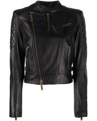 DSquared² Cropped Biker Jacket - Black