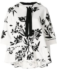 Dorothee Schumacher - Floral Print Short Sleeve Hoodie - Lyst
