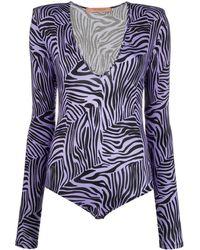 ANDAMANE Zebra Print Body - Purple