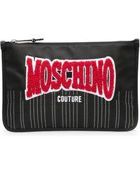 Moschino Клатч С Логотипом - Черный