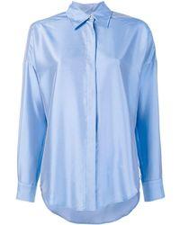 Alberto Biani Silk Plain Shirt - ブラック