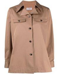 Alberto Biani - ノッチドカラー シャツジャケット - Lyst