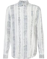 Saint Laurent - Yves-neck Bandana Print Shirt - Lyst